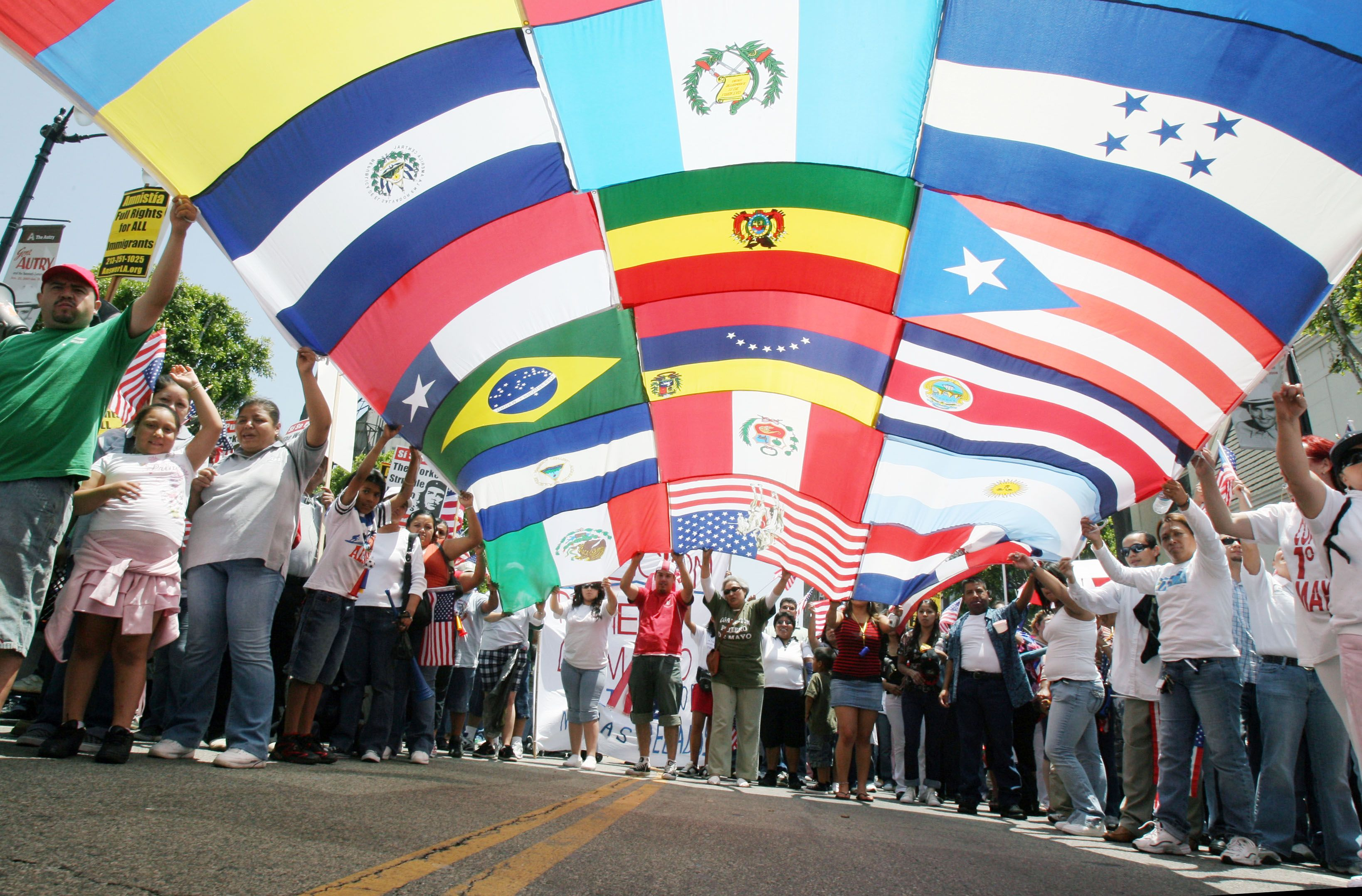 latino flags